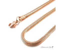 Schlangen Kette rosegold eloxiert aus 316 L Edelstahl...