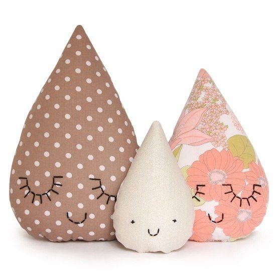 подушка-капля дождя
