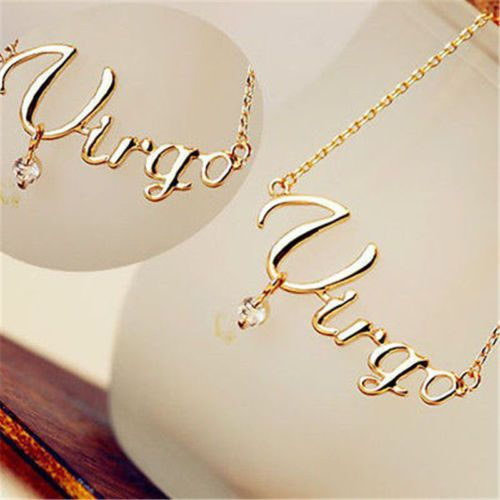 Fashion Jewelry Sexy ms Zodiac Guardian Star Clavicle Chain Letter Pendant Couple Letter Necklace