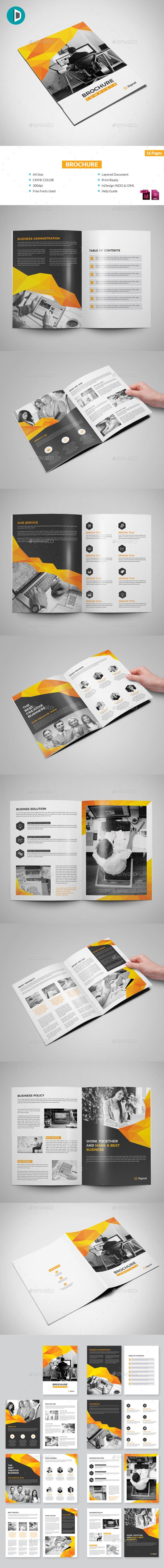 Brochure — InDesign INDD #template #book • Available here → https://graphicriver.net/item/brochure/19992435?ref=pxcr