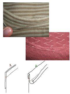 Hen's blog: neckline versions in knits