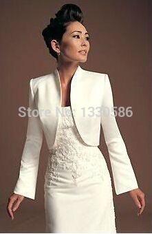 Vente chaude simple Bolero châle de mariée haussement manteau tache blanche à manches longues de mariage vestes Wrap 2016 livraison gratuite dans Tenue de mariage de Mariages et événements sur AliExpress.com | Alibaba Group