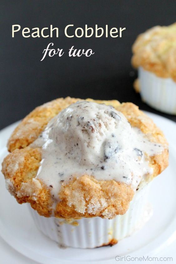 Peach Cobbler for Two in honor of #TheChoiceMovie #ad