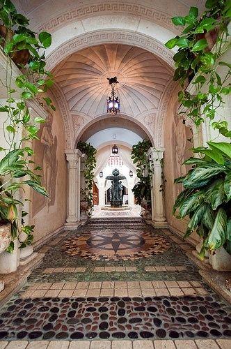 Decorative hallway in Versace Mansion