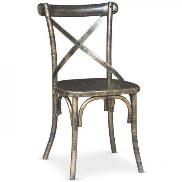 Chaise bistrot contemporaine en métal