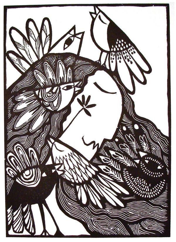 Pajaristicamente alejandro silva - grabado