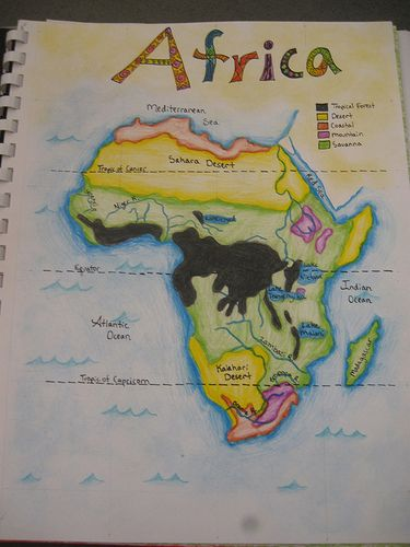Waldorf ~ 7th grade ~ Geography ~ Map of Africa