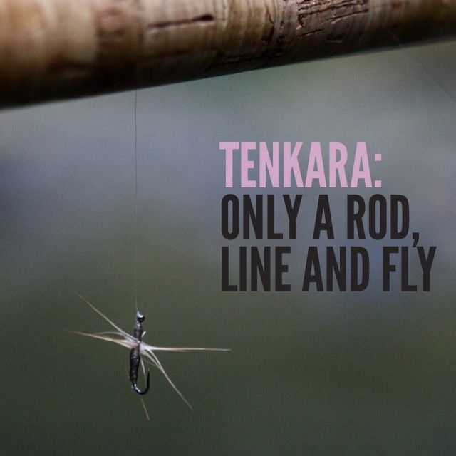 Tenkara  only a rod  line and fly