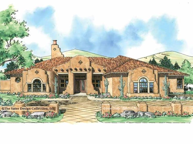 Eplans mission house plan distinctive stucco home 3353 for Mission stucco