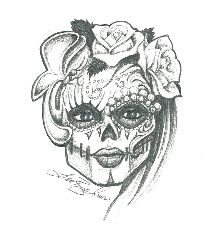 Sugar Skull Drawing Tumblr Request as print | Drawings ...