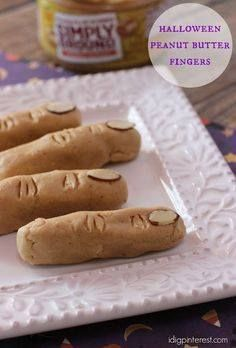 Halloween Peanut But Halloween Peanut Butter Fingers. If you enjoy creepy yet delicious make-you-cringe desserts at Halloween time then these Peanut Butter Fingers are for you! Made with NEW Peter Pan Simply Ground peanut butter these yummy pretzel treats are sure to spook the Halloween party guests or the kids for their after-school snack! Recipe : http://ift.tt/1hGiZgA And @ItsNutella  http://ift.tt/2v8iUYW  Halloween Peanut But Halloween Peanut Butter Fingers. If you...