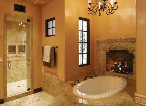 What a dream this would be!Bathroom Design, Luxury Bathroom, Bathroom Wall, Dreams Bathroom, Beautiful Bathroom, Bubbles Bath, Bathroom Ideas, Master Bath, Bathroom Fireplaces