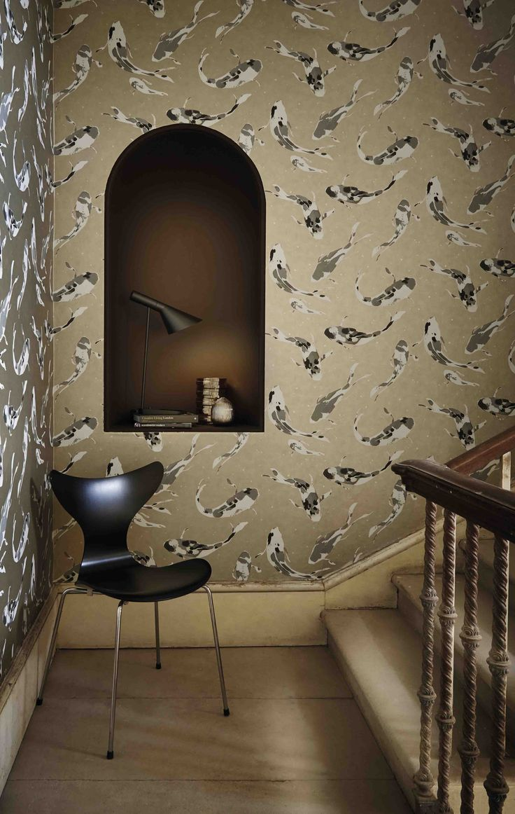 113 best images about harlequin fabrics and wallpapers on for Koi wallpaper for walls