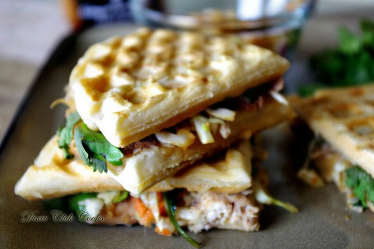 Asian Chicken Waffle Panini #recipe