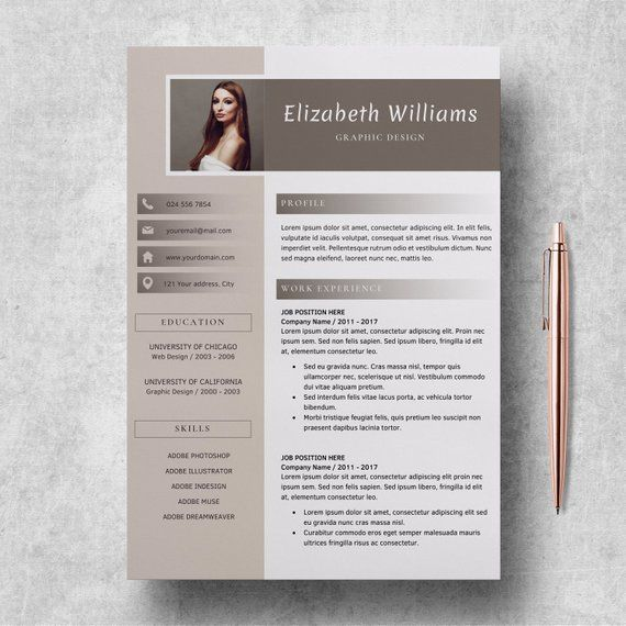Resume Template For Word And Pages Cv Template Etsy In 2020 Creative Cv Template Resume Template Word Resume Template