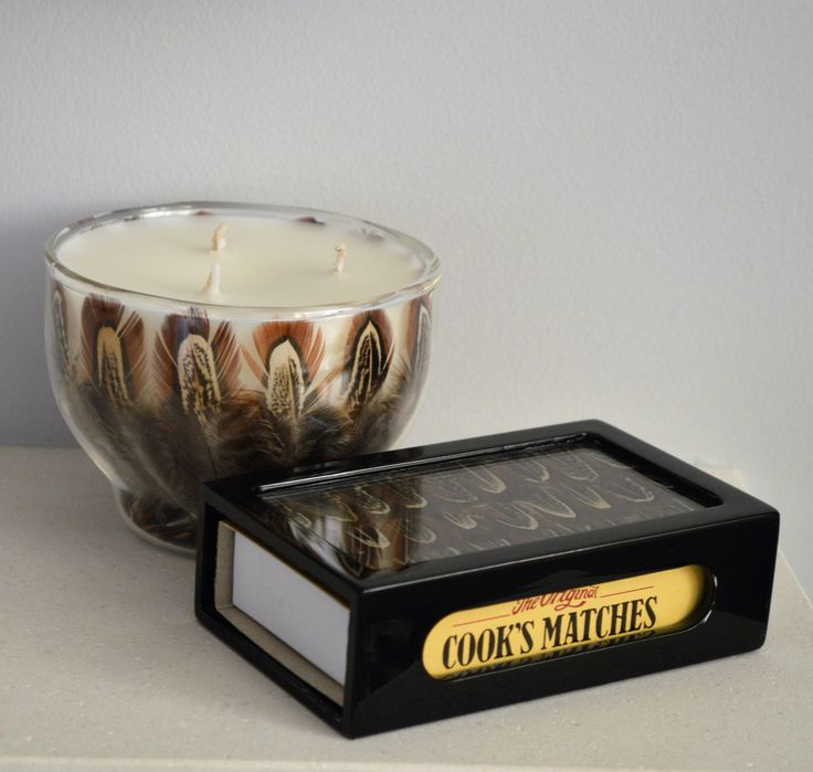 Cock Pheasant scented candle and matchbox