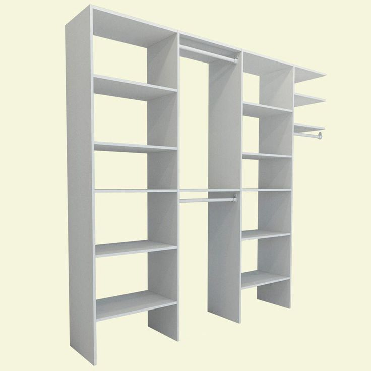 ClosetMaid Selectives 8 ft. - 12 ft. White Entry Closet