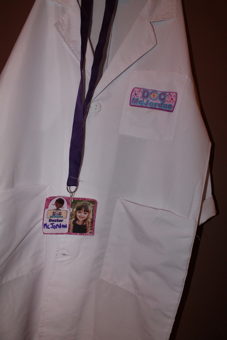 Doc Mcstuffins Lab Coat Complete With Ipersonalized Doc