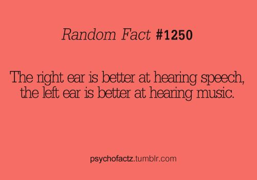 this might explain why headphones always sound weird to me... or maybe I'm just weird. or both. :D