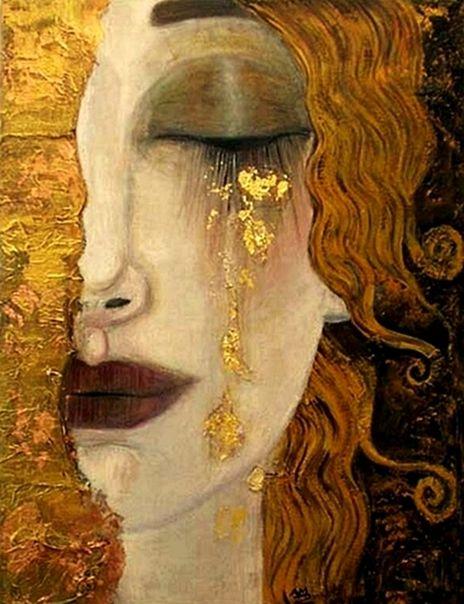 Les larmes d'or, Gustave Klimt