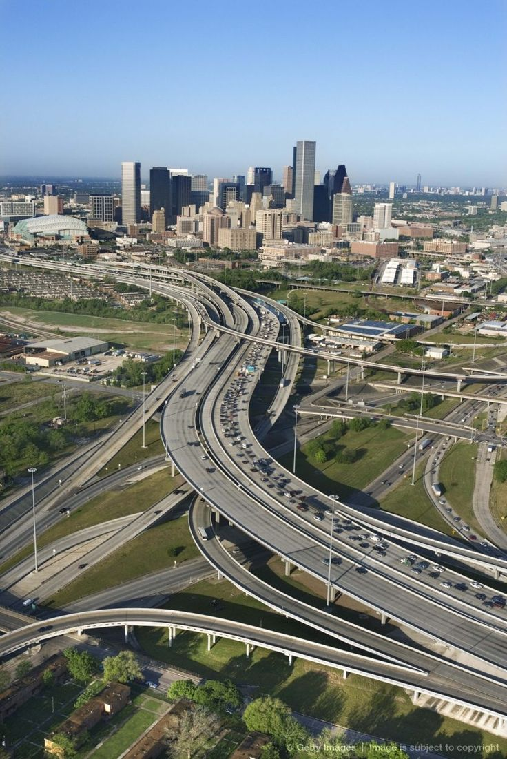 Aerial view of highway in Houston, Texas.I want to go see this place one day.Please check out my website thanks. www.photopix.co.nz