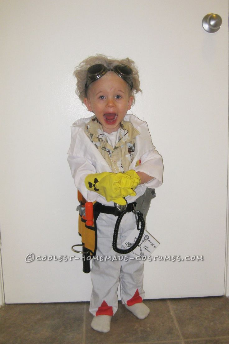 Great Scott! What a Costume! It's 2-Year Old Doc Brown from Back to the Future