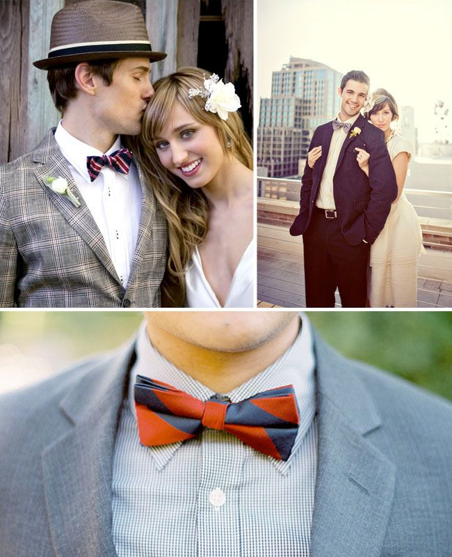Wedding Trend: Fun Bow Ties for the Groom