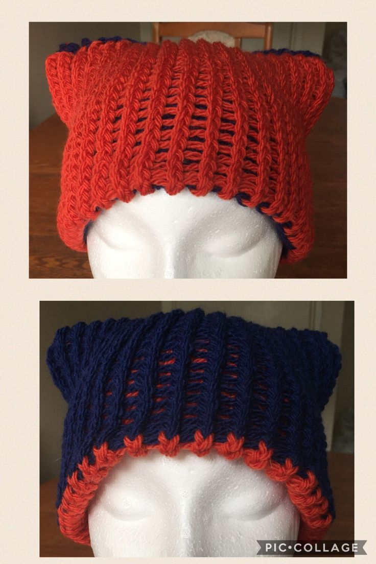 Knitted Women's Kitty Cat Ears Hat Reversible by EDaviesGoods on Etsy https://www.etsy.com/uk/listing/510168443/knitted-womens-kitty-cat-ears-hat