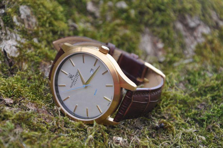 NORTHERN LEGACY - ANCRE 1 GULD (Læderrem) #watch #danish #design