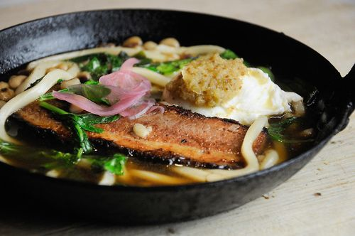 : Beef-Bacon Consommé, Black Eyed Peas, Arugula, Poached Egg, Smoked ...