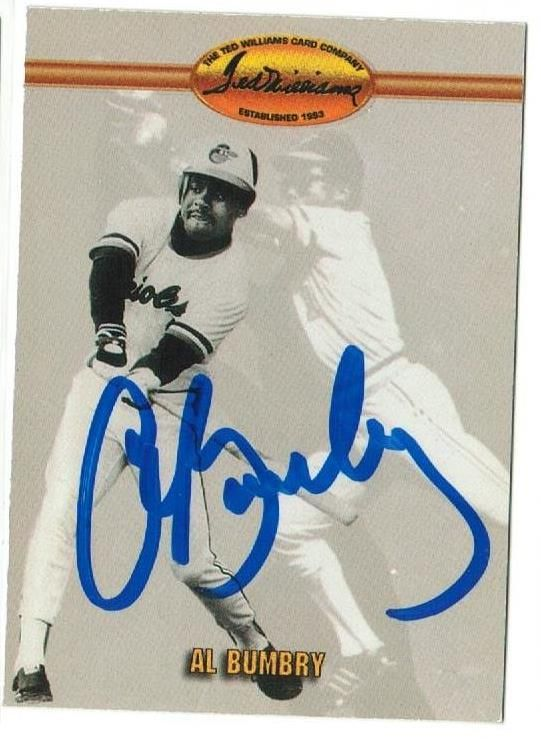Al Bumbry Baltimore Orioles Autographed 1993 Ted Williams Card