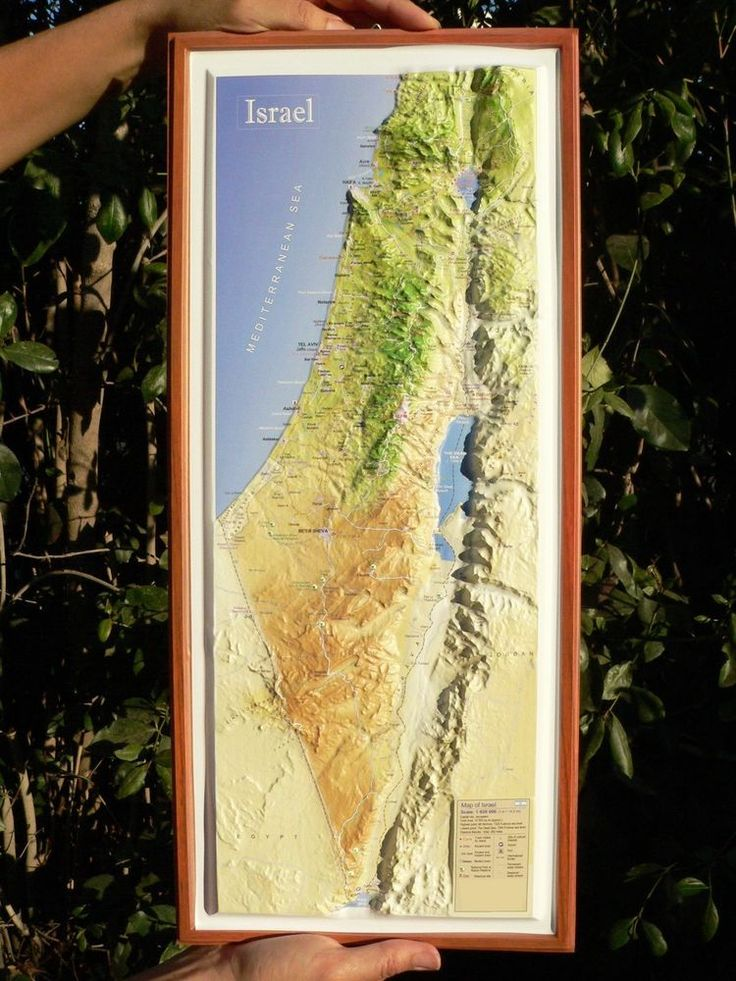 LARGE HOLY LAND Israel 3D Topographic Map