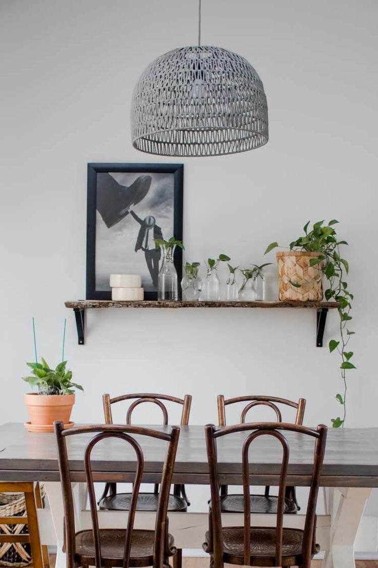 Shelf Decorating Idea Propagated Plant Shelf My Breezy Room Dining Room Wall Decor Dining Room Walls Decor