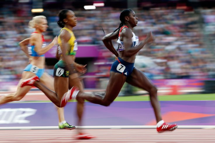 Christine Ohuruogu in action in the 400m at London 2012