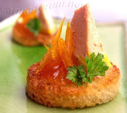 Foie gras on a crouton - by Carina http://pinterest.com/ahaishopping/