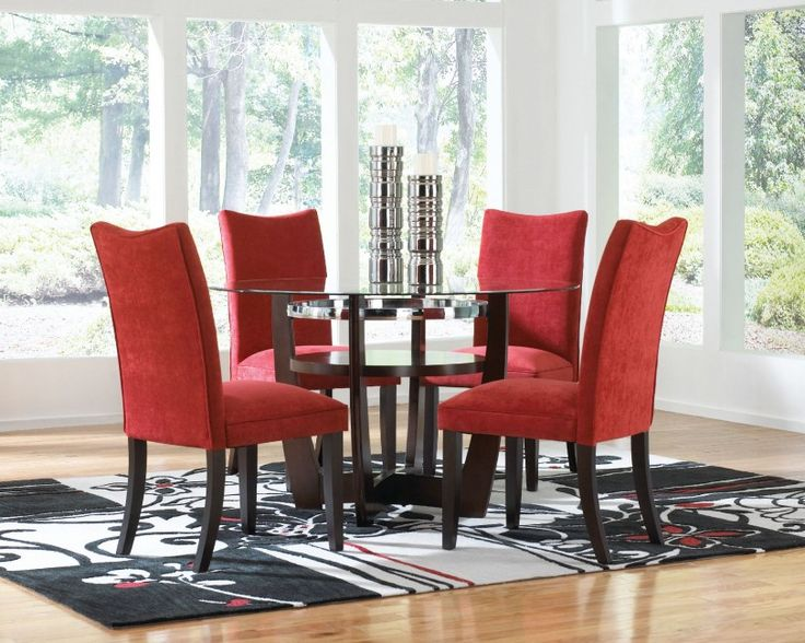 Interesting Red Dining Room Chairs For Making Cheerful Atmosphere