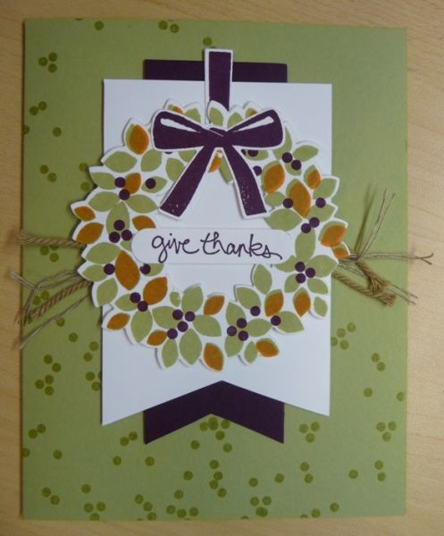 2014 In Colors Stampin Up: Made With A Fun Fall Color Combo