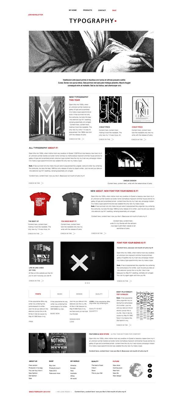 web design by Iv. Slosarova, via Behance