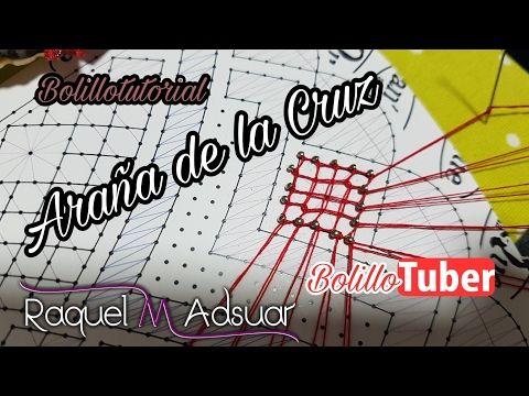 Araña de la Cruz - Tutorial Encaje de Bolillos. Raquel M. Adsuar Bolillotuber - YouTube