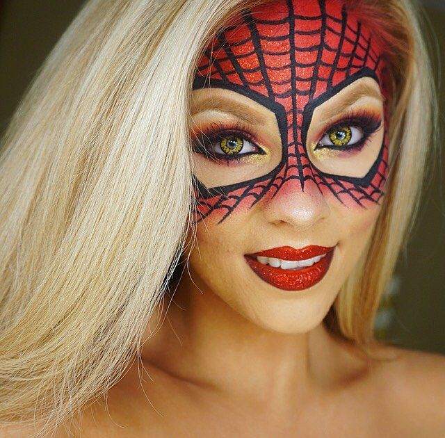 Give yourself a DIY Spiderman mask with this Halloween makeup tutorial.