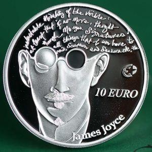 James Joyce auf irischer 10-Euro-Münze (Abbildung: Jason Clarke Photography)