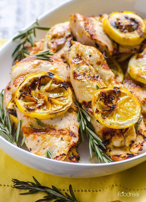 Grilled Lemon Rosemary Chicken.