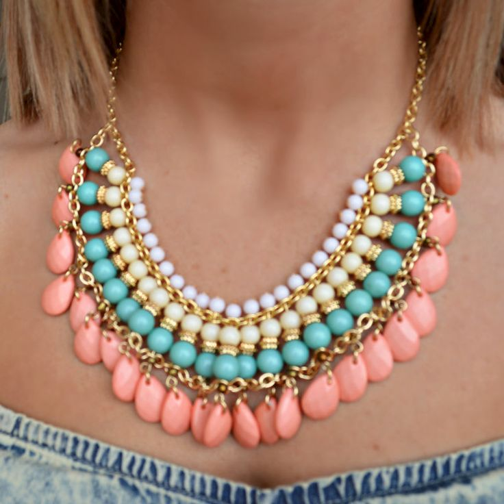 $16.99 Free Shipping http://www.shopadorabelles.com/collections/jewelry/products/beaded-necklace