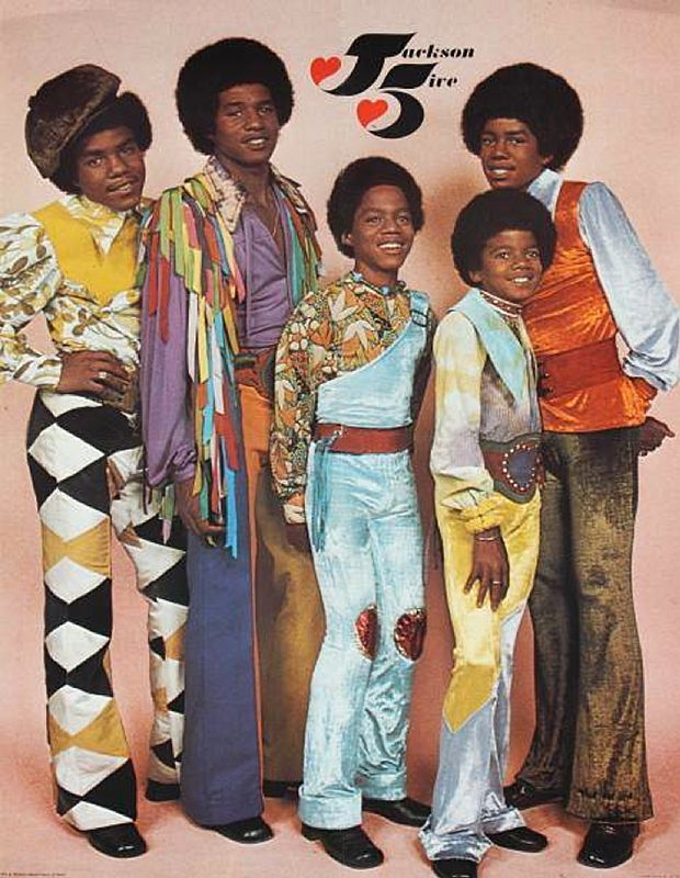 The Jackson Five - (L-R Tito, Jackie, Marlon, Michael and Jermaine)