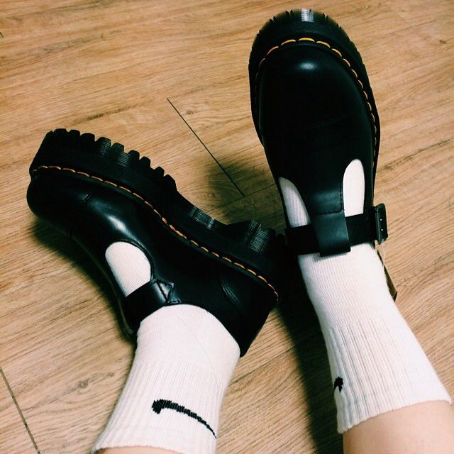 Dr Martens Bethan T Bar Shoes In White