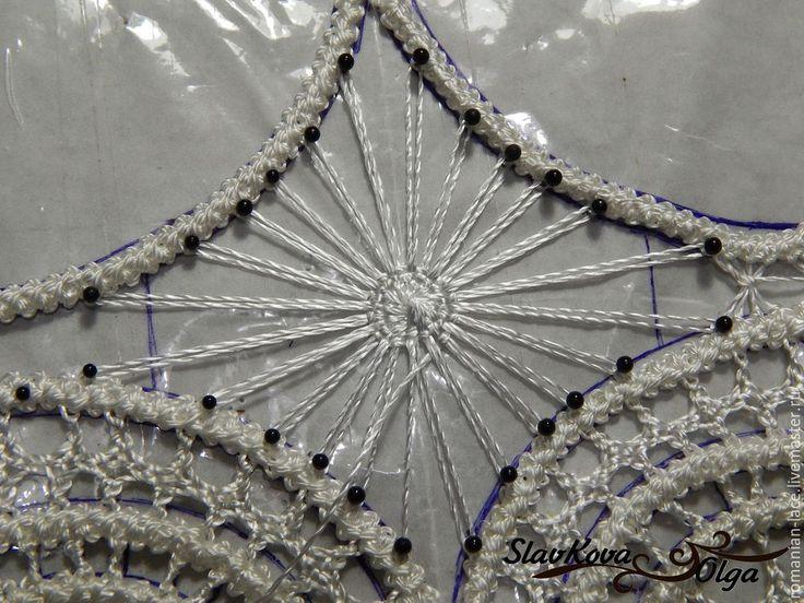 Осваиваем румынское кружево: учимся делать круговой элемент №1 в стиле тенерифе - Ярмарка Мастеров - ручная работа, handmade