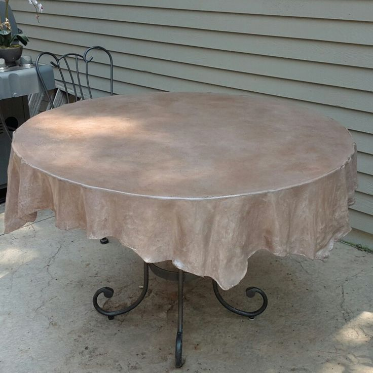 Concrete tablecloth. GOT A TABLE WITH A UGLY TOP?