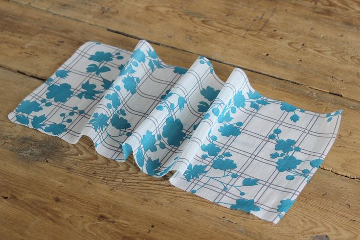 Spring Collection  The Fabric Store - Broderies, Linens and Printed Voiles - Blue Floral Check Silk/Cotton Voile