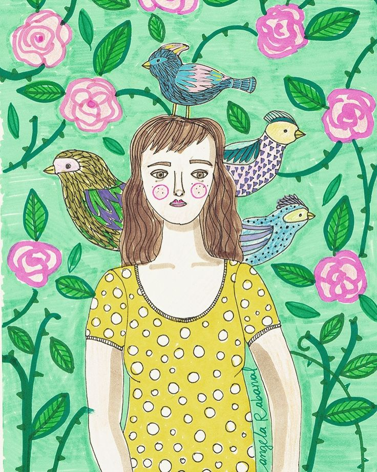 Pájaros #angelarabanaltapia #illustration #drawing