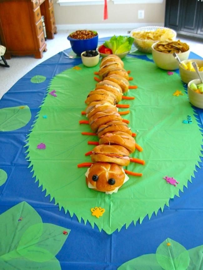 Caterpillar Sandwich Ideas for Kids Party Food